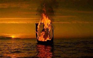 laeva põletamine