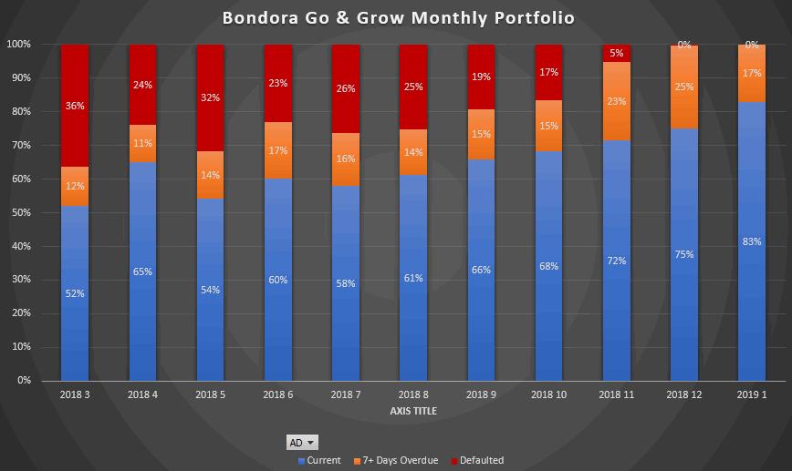 Bondora Go & Grow monthly portfolio