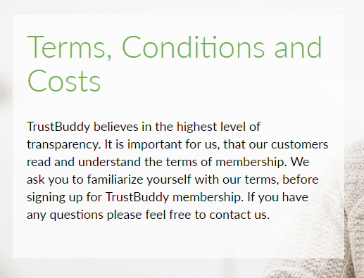 TrustBuddy väärtustab läbipaistvust