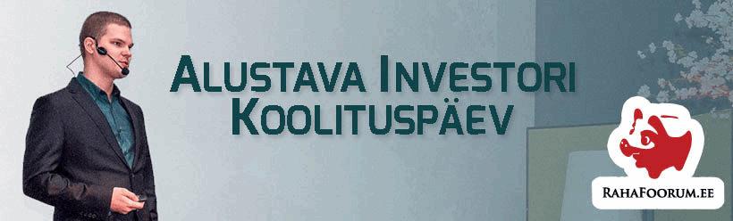 Alustava investori koolituspäev