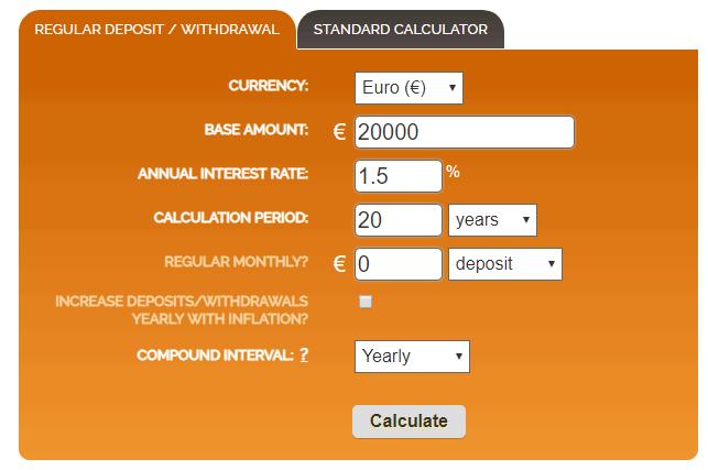 liitintressi arvutamine kalkulaatori abil