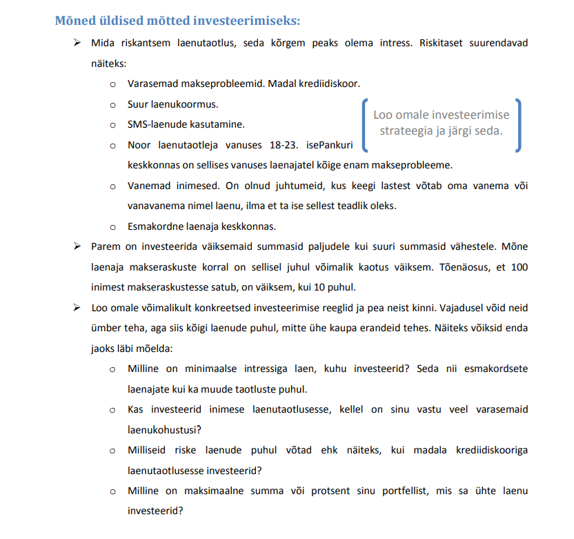 näpunäiteid ühisrahastuses investeerimiseks