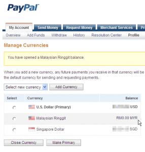 PayPal valuuta