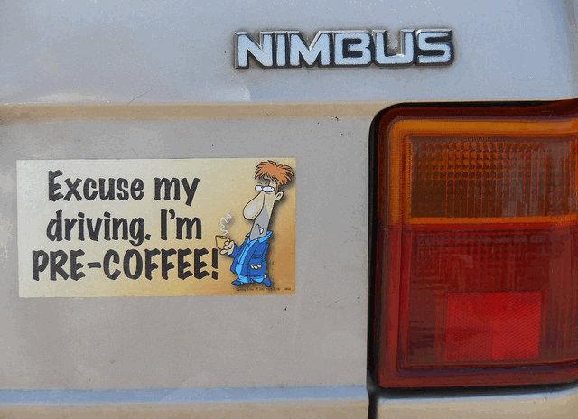 sõidaksin hästi, aga ma ei ole kohvi joonud