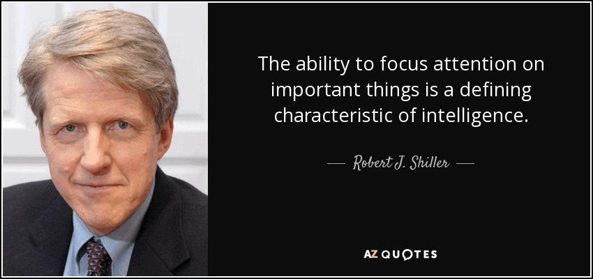 Võime keskenduda olulisele, on märk intelligentsusest.
