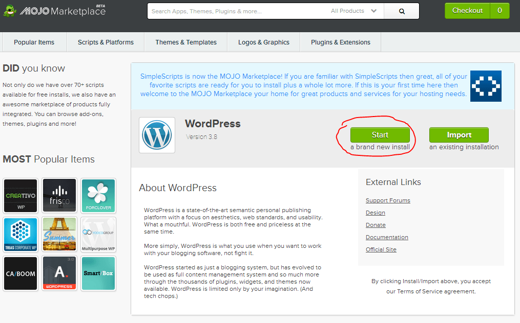 wordpress_installeerimine